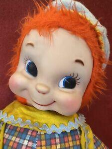 """Vintage Rushton Boy Jack Rubber Face 22"""" Doll Plush"""