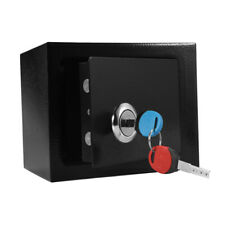 HIGH SECURITY STEEL SAFE KEY LOCK SAFETY BOX MONEY CASH JEWELRY MECHANICAL