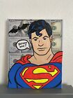 8x10 Black Light Superman Batman DC Super Hero Art Painting Decor Comics Pop
