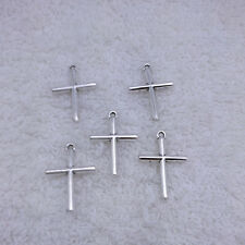 Jewelry Findings,Charms​,Pendants,Tibet​an Silver Cross 15pcs 20x15mm