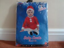 Miss Santa Baby Dress & Hat Fancy Dress Costume Outfit Size 6-12 months