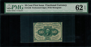 Fr-1240 $0.10 First Issue Fractional Currency - 10 Cents - Graded PMG 62 EPQ