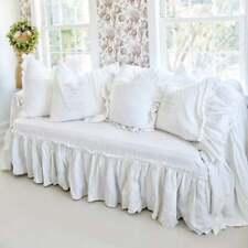 ruffled sofa slipcover farmhouse shabby couch slip cover