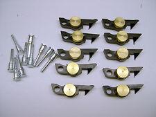 Ten American Flyer Brass Weight Link Couplers w/ Pins