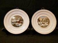 HARKERWARE USA - CURRIER AND IVES - VINTAGE - Plates (Winter Scenes) SET OF 2