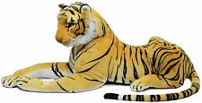 EXTRA Large GIGANTE PELUCHE DISTESO Tiger Giocattolo Morbido con rumore ~ GOLD