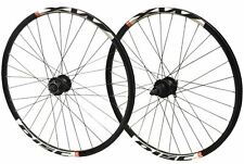 "26"" PAIR Mach DISC MTB Bike DH Double Wall Q/R Shimano 525 Hub All Black WHEELS"