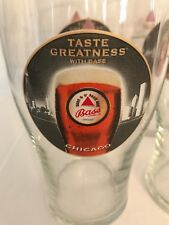 Bass beer Chicago glasses set of 6 nice condition