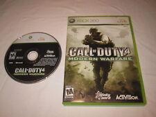 Call of Duty 4: Modern Warfare (Microsoft Xbox 360) Game in Case Vr Nice!