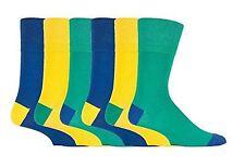 6 paires hommes classique gentle grip chaussettes tailles 6-11 uk, 39-45 euro couleurs mélangées