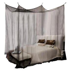 Mosquito Net Double Four Corner Black White Canopy Quadrate Palace Bedroom Net
