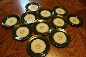 Vintage Homer Laughlin~Nautilus~Lady Greenbriar~Bread Plates~ Set of 11~VGC!