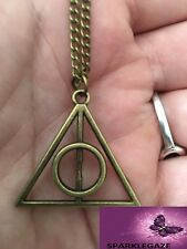 HARRY POTTER DEATHLY HALLOWS  PENDANT WITH BRONZE NECKLACE 176