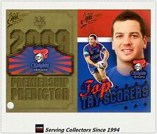 2009 NRL Classic Predictor + Top Tryscorer Card TT8 Jarrod Mullen (Knights)