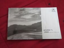 2000 ACURA TL NICE FACTORY ORIGINAL OWNERS MANUAL A