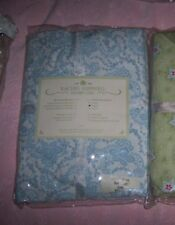 1 Rachel Ashwell Shabby Chic Baby Crib Nursery Fitted Sheet Floral Stitch Blue