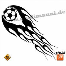 Wandtattoo Flammen Ball Fußball sfu15 Sport Wand Deko Aufkleber
