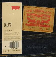 Levis 527 Jeans Mens New Slim Boot Cut Size 31 x 32 BLACK INDIGO Levi's #149