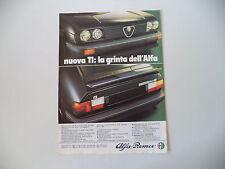 advertising Pubblicità 1980 ALFA ALFASUD TI
