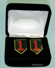 1st Infantry Division Army Cuff Links in Presentation Gift Box