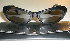 VINTAGE B&L RAY BAN W2522 THICK BLACK G15 UV LENS SLEEK CATS RITUALS SUNGLASSES