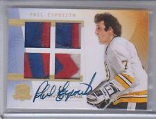 2009-10 The Cup Phil Esposito Quad Autograph Patch 1/5 RARE CF-ES NM Condition