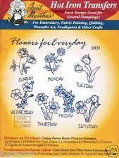 Flowers for Everyday #3931 Aunt Martha's Hot Iron Embroidery Transfer Pattern
