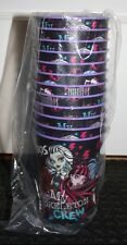Monster High My Boos My Skeleton Crew Purple 16 oz Plastic Party Cups 12 Ct NEW