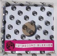 """Pack of 100 x 12"""" inch Vinyl Record Album LP White Paper Inner Sleeves"""