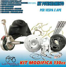 KIT MODIFICA CILINDRO 130 + ALBERO MOTORE PIAGGIO APE 50 RST MIX FL2