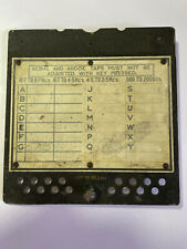 T1154 VALVE COVER/frequency plate (STEEL) VERY RARE!!!!!!!!!!!!!!