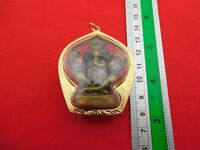 Rare Wealth Ganesha Antiques Statue Locket Ganesh Hindu god Elephant Head Amulet