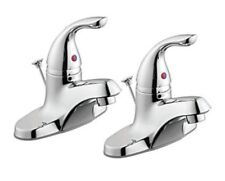 GLACIER BAY1500 Series 2-Pack Single Handle Bath Faucets in Chrome Finish