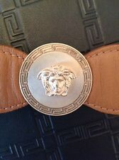 Versace Medusa Leather Bracelet Cuff $800