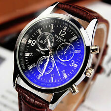 2016 Luxury Military Sport Men's Stainless Steel Quartz Date Leather Wrist Watch