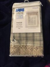 Maisie Window Valance 54x14 Gray Plaid New In Package