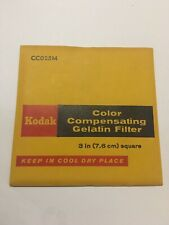 Kodak Wratten Gelatin Filter 75mm//3x3 Blue Series Color Conversion #80C