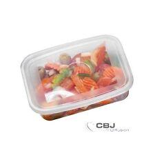 Lot de 20 boîte de conservation alimentaire microndable avec couvercle 750 CC