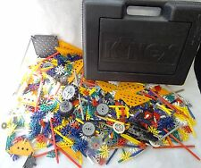 LARGE Lot of 600+ K'NEX Mixed Building Pieces in Case BIG VARIETY Over 4 lbs