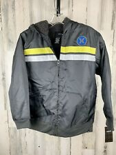 Hurley Boys Youth Lined Winter Jacket Gray Size L NWT