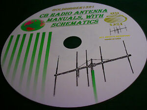 11 METER CB RADIO ANTENNA BEAM OWNER MANUALS, WITH SCHEMATICS ON CD,,,,,