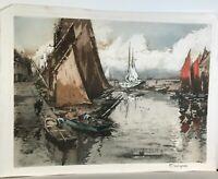 Original Color Etching by Ferdinand-Jean Luigini