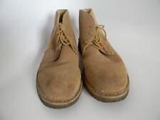 Dunn's Mens Tan Suede Rubber Sole Shoes Size 12M