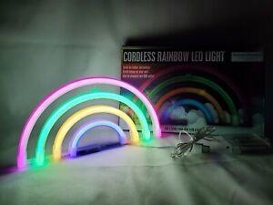 Rainbow LED Light, Battery Or USB Operate Nightlight Home decor