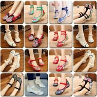 Spring Women's Casual Leisure Shoes Flats Embroidered Beijing Cloth Shoes Colors