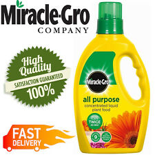 Miracle Gro All Purpose Liquid Plant Food Concentrated Fertiliser Bottle 1L
