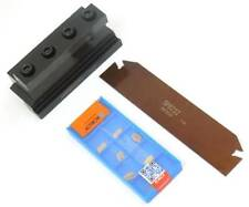 A Set of 10 pcs Inserts + SPB32-2mm Grooving Cut-Off Cutter SMBB2032 Tool Holder