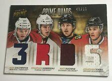Toews Duchene Huberdeau Galchenyuk /50 Prime Jersey Insert Parallel Hockey Card