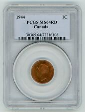 1944 Canada One Cent - PCGS MS-64, Red
