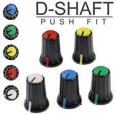 5 Colours D-Shaft 270° Plastic Pot Knobs for 6mm Potentiometer / Rotary Encoder